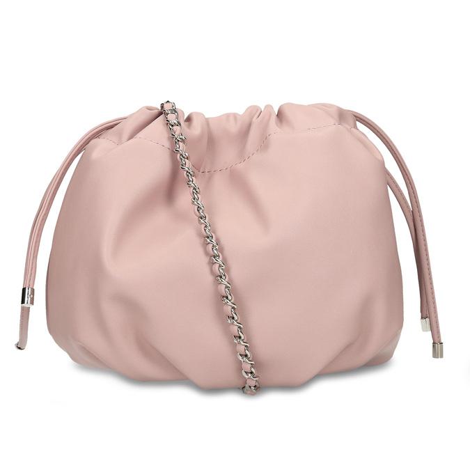 Růžová dámská balonová kabelka s řetízkovým uchem bata, růžová, 961-5776 - 16