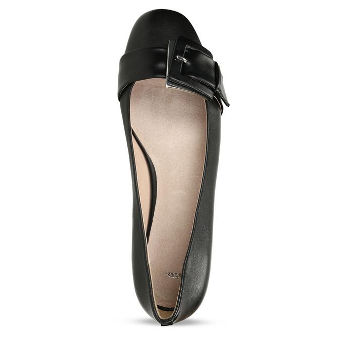 Kožené dámské baleríny černé bata, černá, 524-6641 - 17
