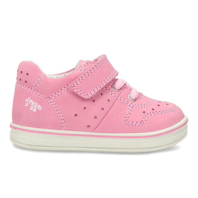 Růžové dětské kožené tenisky bubblegummers, růžová, 124-5604 - 19