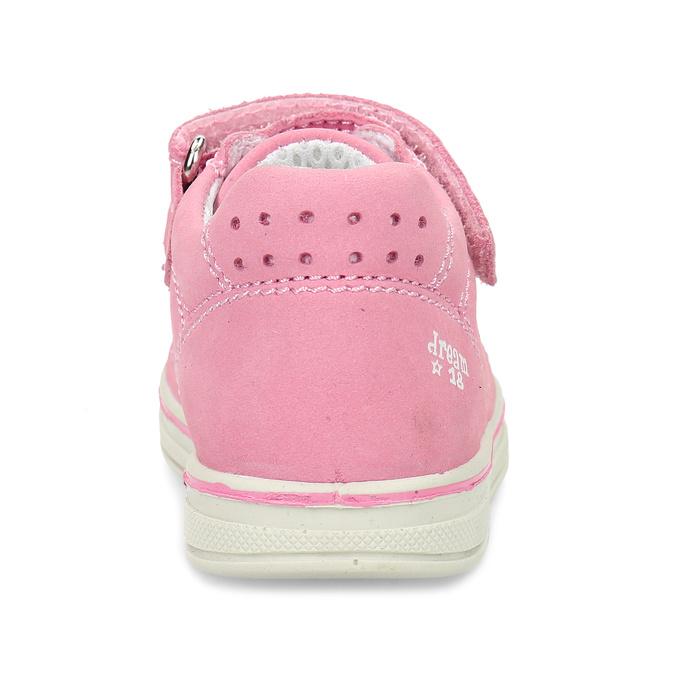 Růžové dětské kožené tenisky bubblegummers, růžová, 124-5604 - 15