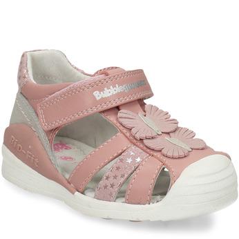 Růžové dívčí sandály s motýlky bubblegummers, růžová, 161-5602 - 13