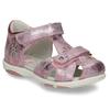 Lesklé růžové dívčí sandály s kytičkami bubblegummers, růžová, 161-5603 - 13