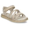 Béžové dívčí páskové sandály mini-b, béžová, 361-8600 - 13