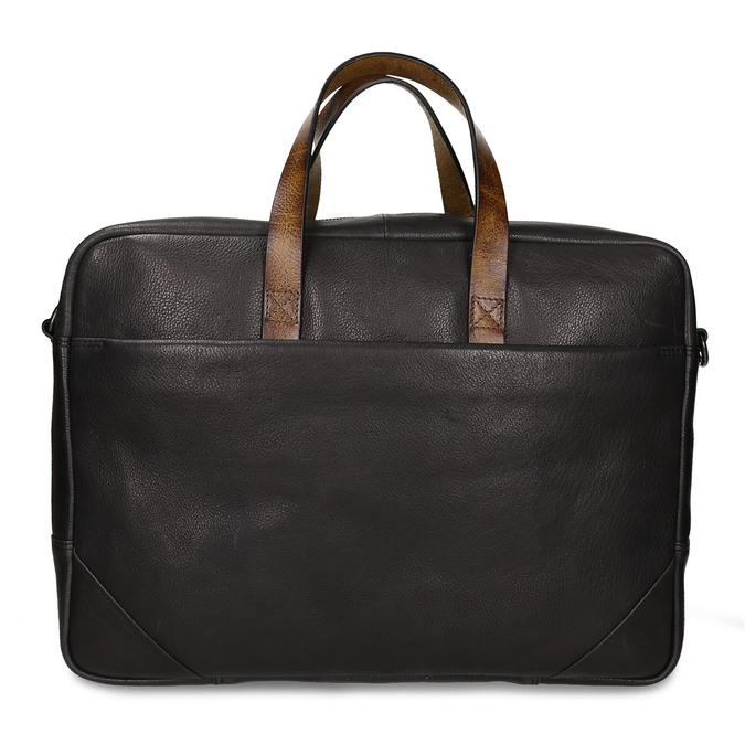 Černá pánská kožená taška na notebook bata, černá, 964-6651 - 26
