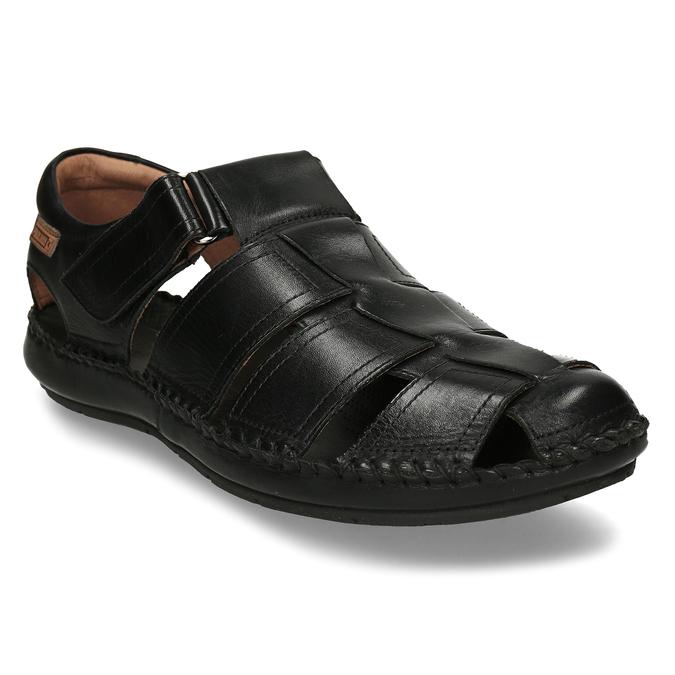 Černé pánské kožené sandály pikolinos, černá, 864-6612 - 13