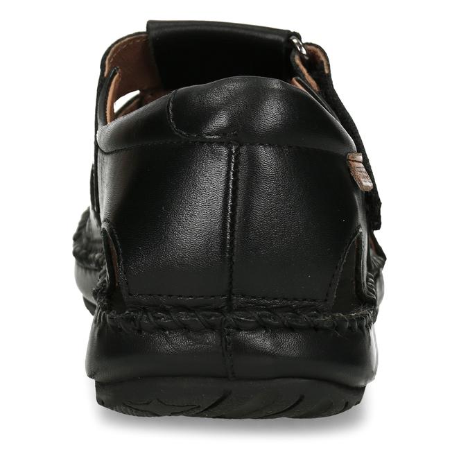 Černé pánské kožené sandály pikolinos, černá, 864-6612 - 15