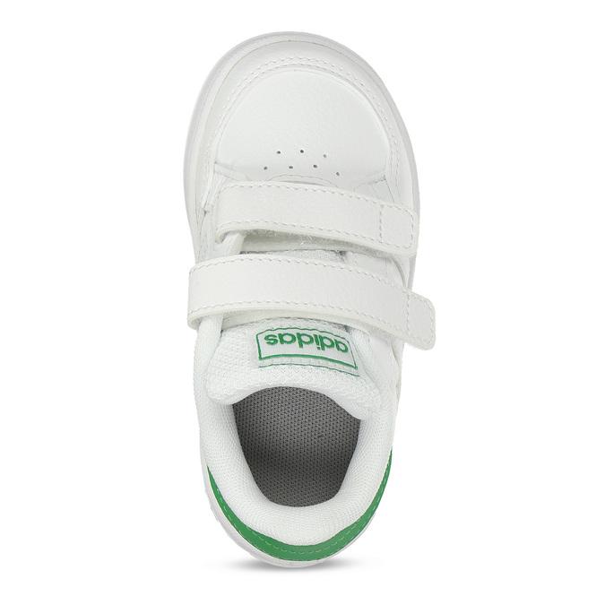 Bílé dětské tenisky se zelenými prvky adidas, bílá, 101-1731 - 17