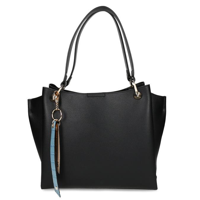 Černá dámská koženková kabelka střední velikosti bata, černá, 960-6624 - 26