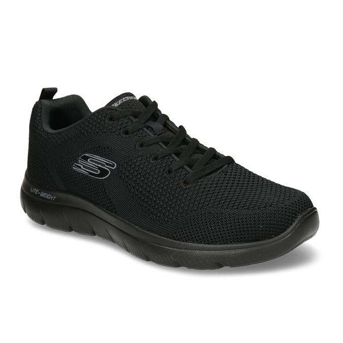 Černé pánské sportovní tenisky skechers, černá, 809-6273 - 13