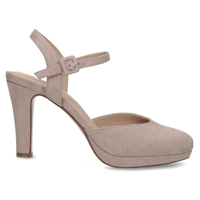 Béžové dámské lodičky na vysokém podpatku bata, béžová, 729-8602 - 19