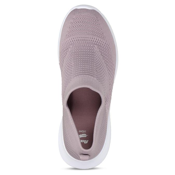 Růžové dámské Slip-on tenisky bata-light, růžová, 529-5605 - 17