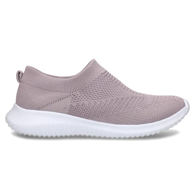 Růžové dámské Slip-on tenisky bata-light, růžová, 529-5605 - 19