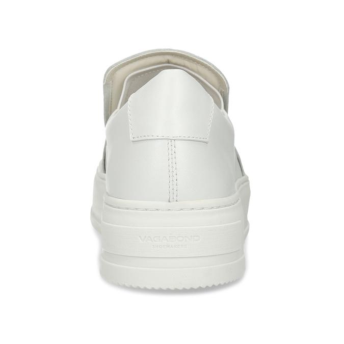 Bílé kožené dámské slip-on tenisky vagabond, bílá, 544-1616 - 15