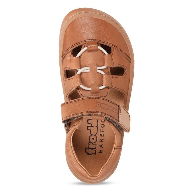 Hnědé dětské kožené sandály na suchý zip froddo, hnědá, 264-4610 - 17