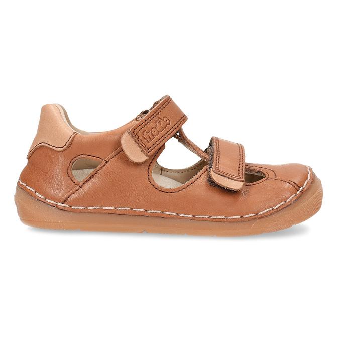 Hnědé dětské kožené sandály s uzavřenou špičkou froddo, hnědá, 164-4604 - 19