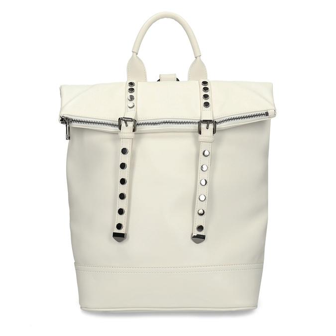 Bílý dámský městský batoh bata, bílá, 961-1640 - 26