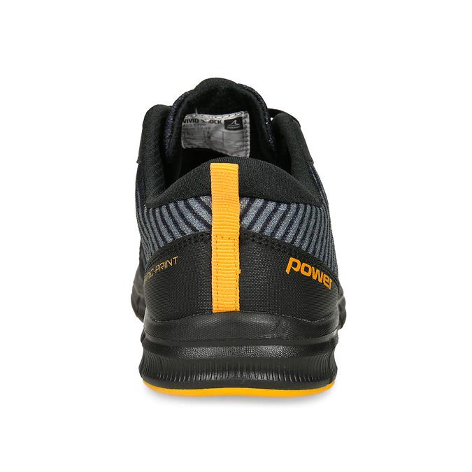 Černé dětské sportovní tenisky s oranžovými prvky power, černá, 409-6700 - 15