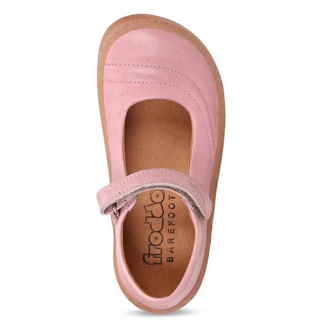 Růžové dětské kožené sandály s uzavřenou špičkou froddo, růžová, 224-5612 - 17