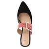 Černé dámské pantofle s růžovým páskem a koženou stélkou bata, růžová, 529-5608 - 17