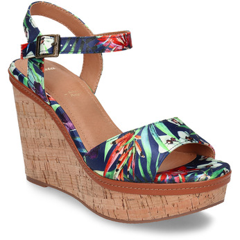 Barevné dámské sandály na platformě bata, modrá, 759-9606 - 13