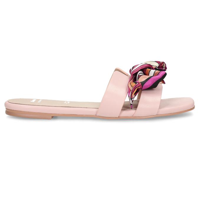 Růžové dámské pantofle s barevnou mašlí bata, růžová, 559-5600 - 19