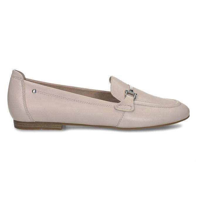 Béžové dámské kožené mokasíny bata, růžová, 514-8600 - 19