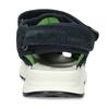 Modré dětské sandály se zelenými prvky a koženým svrškem primigi, modrá, 266-6609 - 15