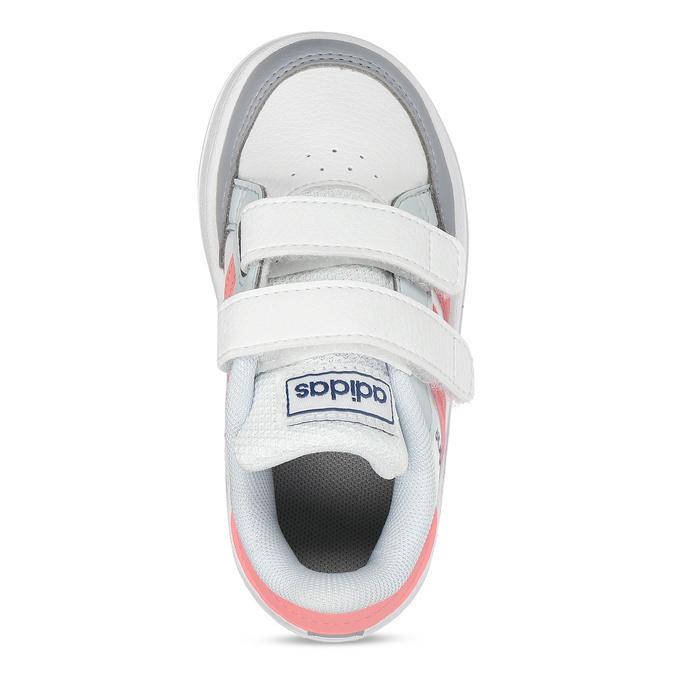 Bílé dívčí tenisky na suchý zip adidas, bílá, 101-1931 - 17