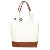Bílá dámská kabelka střední velikosti s hnědými prvky bata, bílá, 961-0502 - 16