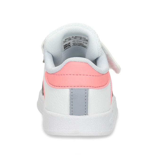 Bílé dívčí tenisky na suchý zip adidas, bílá, 101-1931 - 15