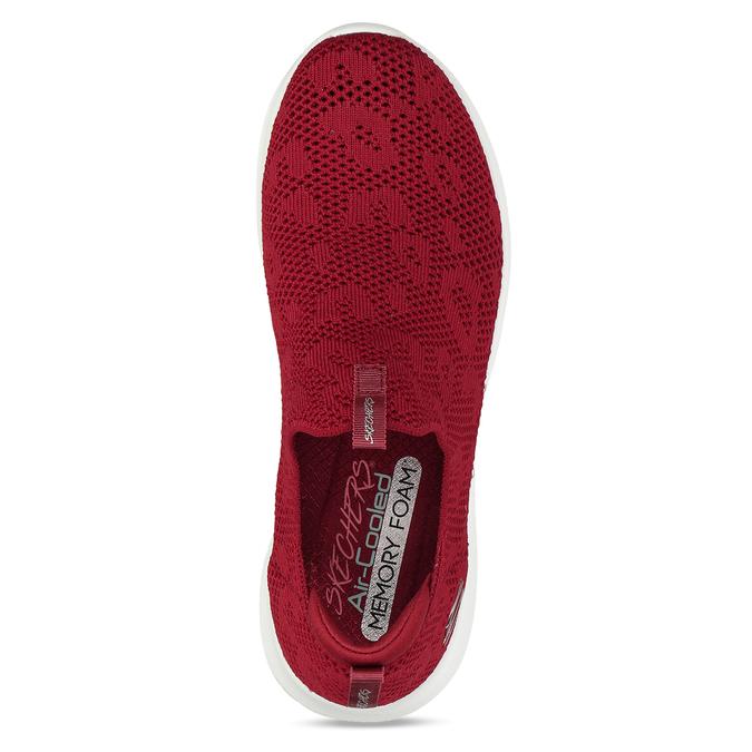 Červené dámské slip-on tenisky s prodyšným svrškem skechers, červená, 509-5612 - 17