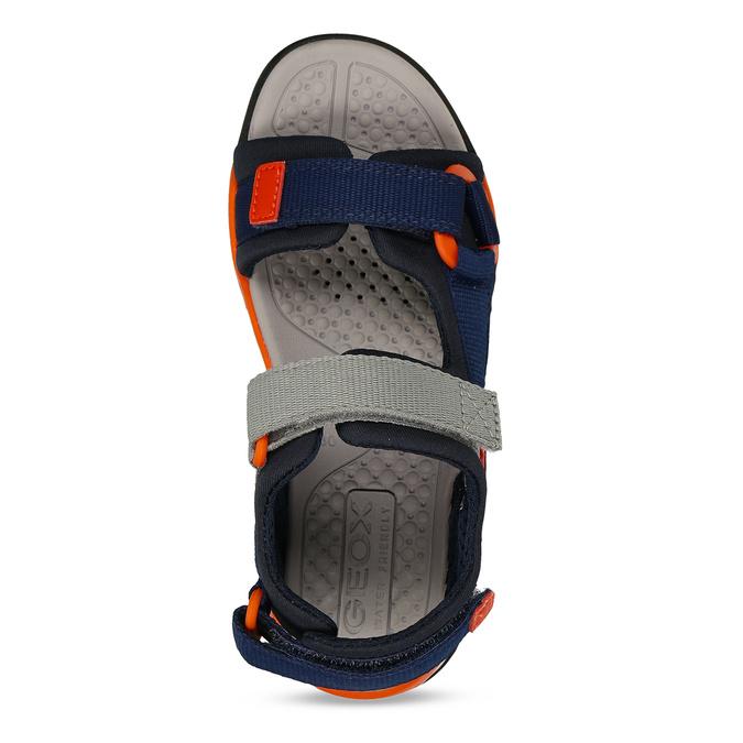 Modré dětské sportovní sandály s oranžovými prvky geox, modrá, 369-9611 - 17