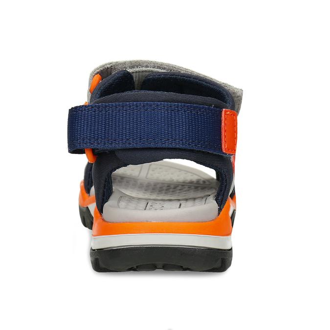 Modré dětské sportovní sandály s oranžovými prvky geox, modrá, 369-9611 - 15