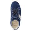 Modré dívčí kožené tenisky s neonovým prvkem richter, modrá, 223-9603 - 17