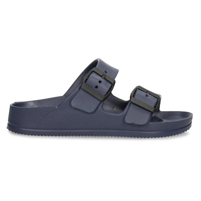 Modré pánské pantofle bata, modrá, 872-9600 - 19