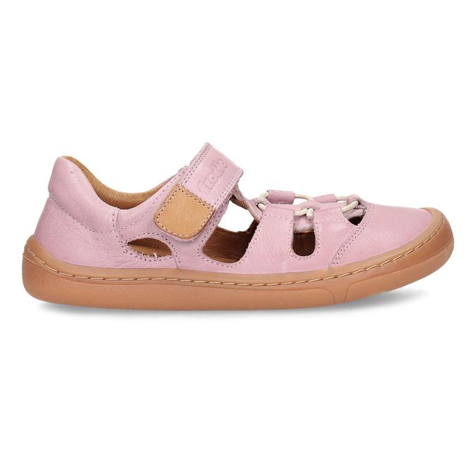 Růžové dětské kožené sandály na suchý zip froddo, růžová, 264-5610 - 19
