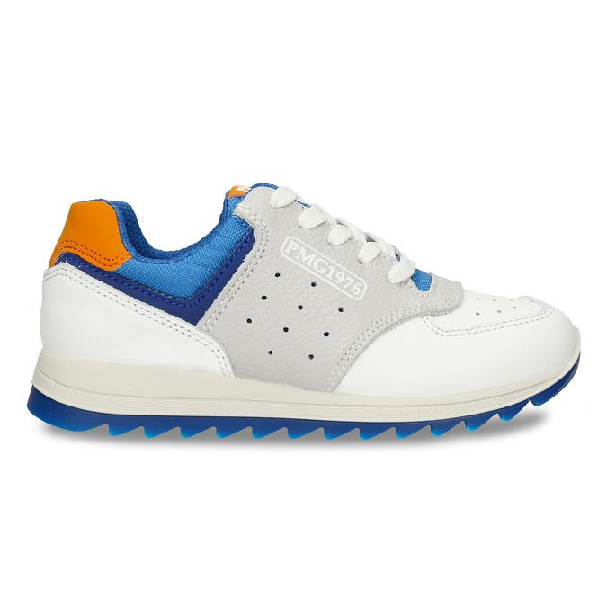 Bílošedé dětské tenisky modrými a oranžovými prvky primigi, bílá, 216-1600 - 19