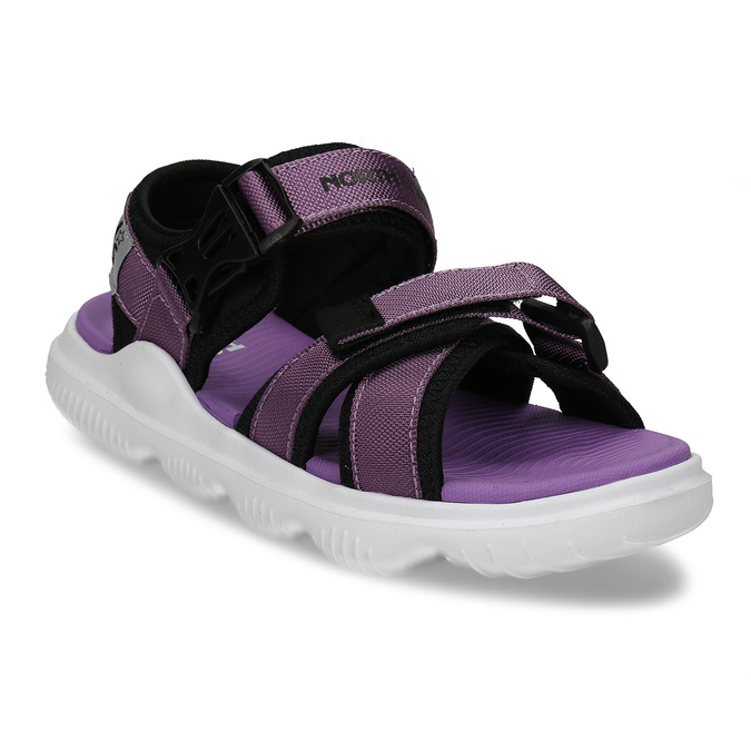 Fialové dívčí sandály na suchý zip north-star, fialová, 469-9631 - 13