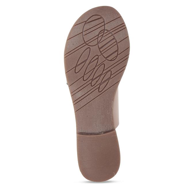 Růžové kožené dámské pantofle s hadím vzorem bata, růžová, 564-5620 - 18