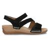Černé dámské kožené sandály gabor, černá, 663-6600 - 19