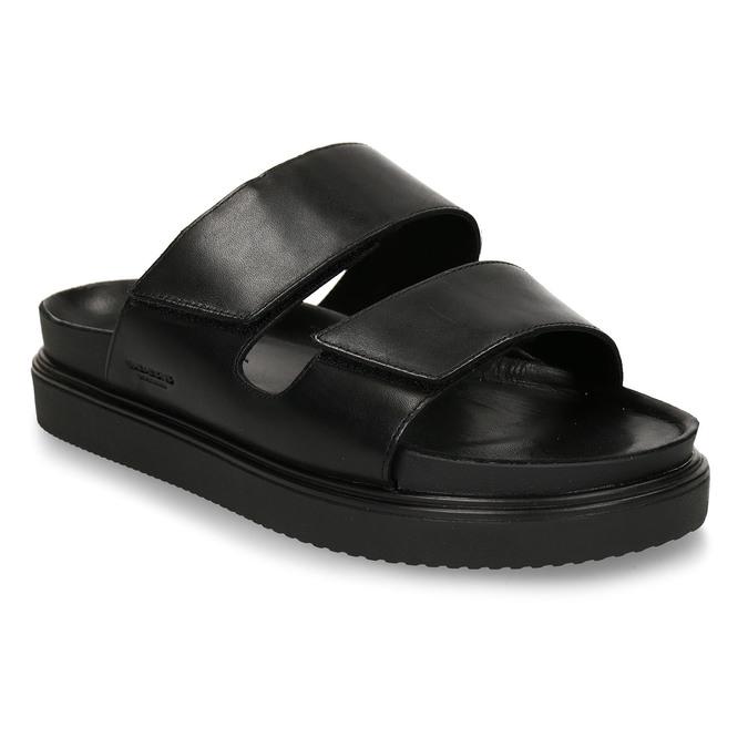 Černé pánské kožené pantofle vagabond, černá, 864-6610 - 13