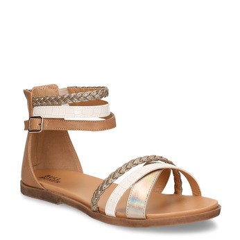 Zlaté dětské kožené sandály bullboxer, zlatá, 464-4602 - 13
