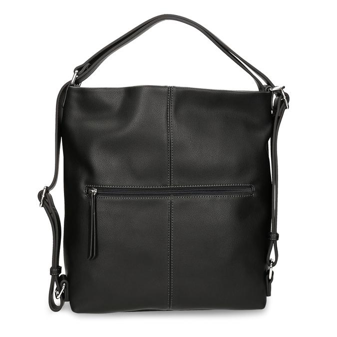 Černá dámská kabelka přeměnitelná na batoh gabor, černá, 961-6645 - 16