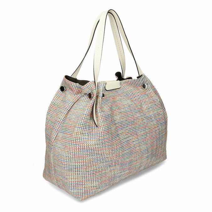 Barevná dámská kabelka s krémovými držadly bata, vícebarevné, 969-1673 - 13