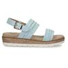 Modré dámské sandály na vyšší platformě bata, modrá, 561-9615 - 19