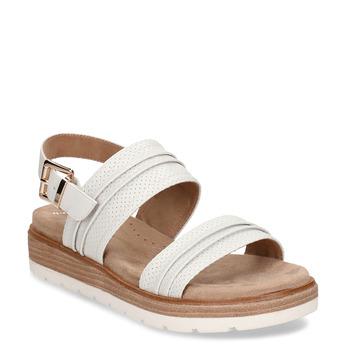 Bílé dámské sandály na vyšší platformě bata, bílá, 561-1615 - 13