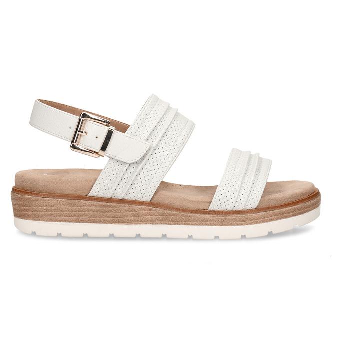 Bílé dámské sandály na vyšší platformě bata, bílá, 561-1615 - 19