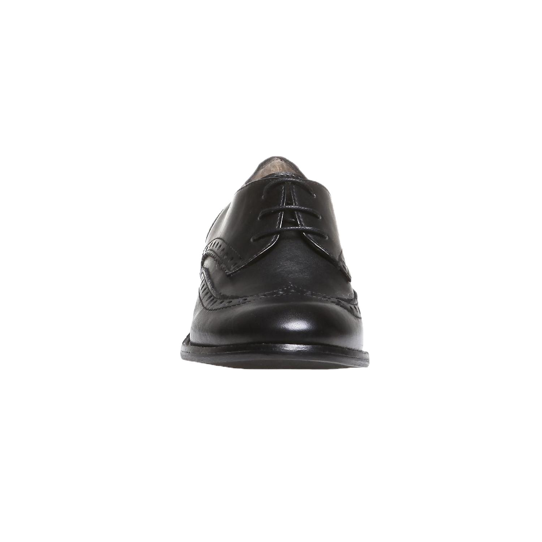 Kožené polobotky s klasickým zdobením bata, černá, 2019-524-6184 - 16