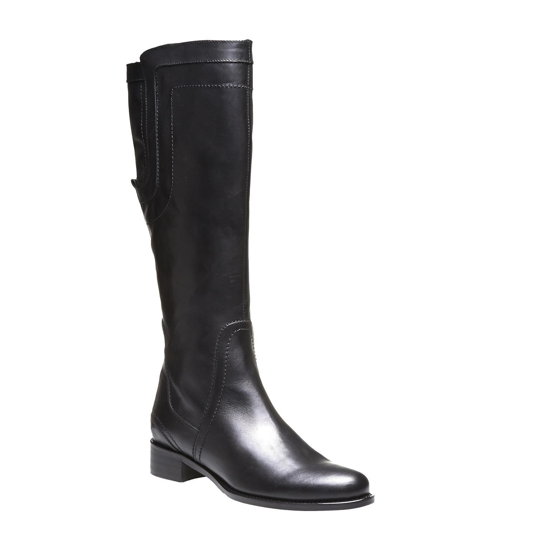 Andy - kozačky s originálním prošitím bata, černá, 2019-594-6139 - 13
