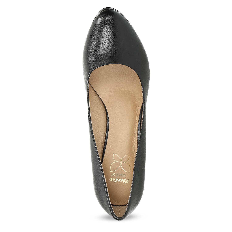 fedd92e80c4 Insolia Černé kožené lodičky - Všechny boty